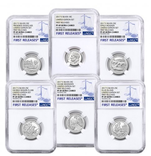6-Coin Set - 2017-S U.S. Limited Edition Silver Proof Coins Set (Minors) NGC PF69 UC FR