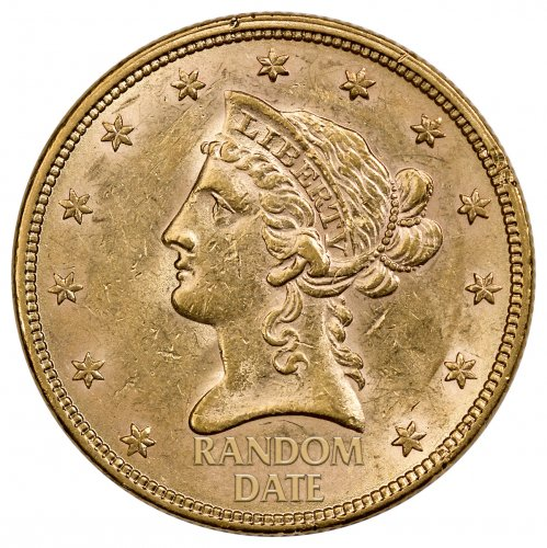 1866-1907 Liberty Head With Motto $10 Gold Eagles XF