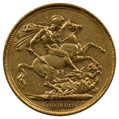 1893-1901 Great Britain Gold Sovereign - Queen Victoria Old Head XF