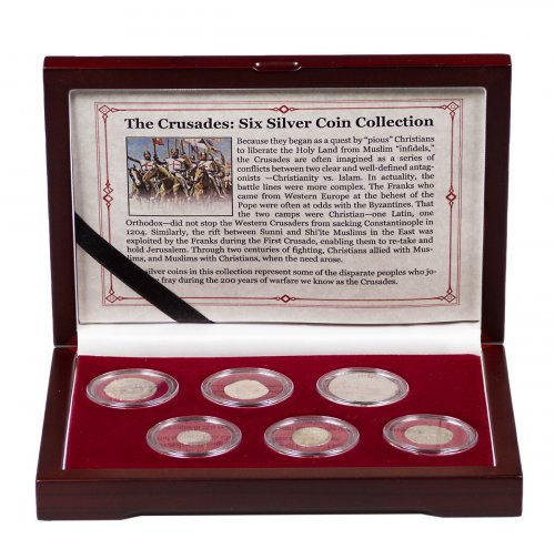 The Crusades: 6 Silver Medieval Coin Collection