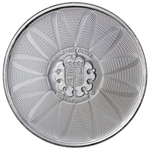 Royal Mint Center Shield 1 oz Silver Round