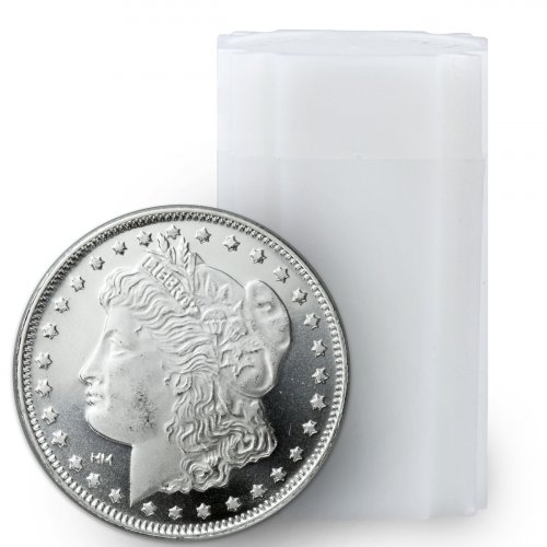Roll of 20 - Highland Mint Morgan Dollar Design 1 oz Silver Round
