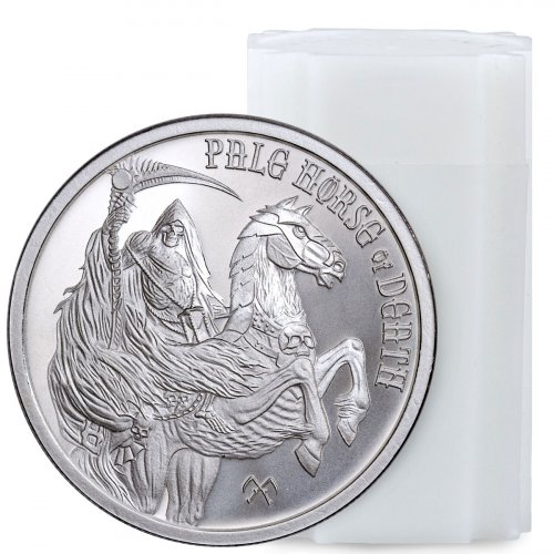 Roll of 20 - Golden State Mint Four Horsemen of the Apocalypse - Pale Horse of Death 1 oz Silver Round GEM BU