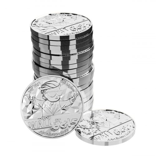 Roll of 20 - 2021 Blockchain Mint WallStreetBets 1 oz Silver Round GEM BU
