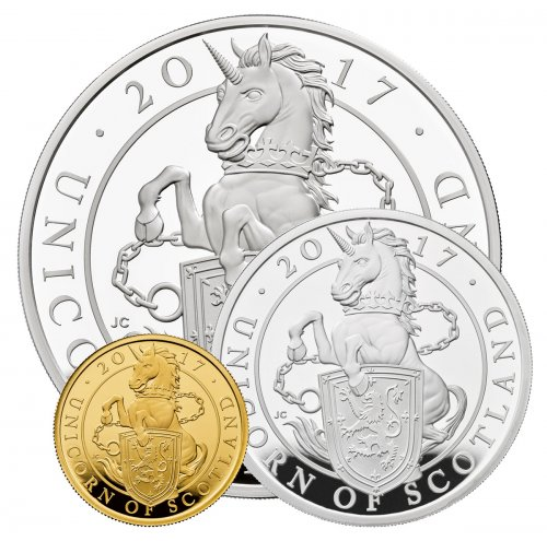2017 Great Britain Gold & Silver Queen's Beasts - Unicorn of Scotland Scarce and Unique Coin Division