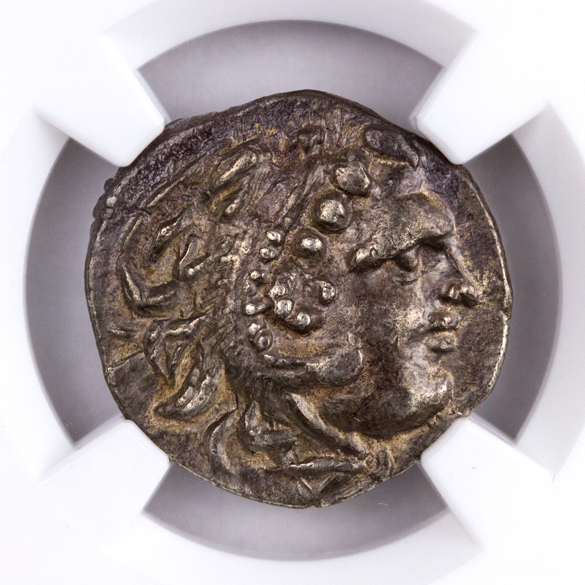Celts, Silver Drachm (c.3rd Century BC) - Imitation of Ionia, Chios (Types of Alexander III) - obv. Heracles/rv. Zeus NGC Ch. VF