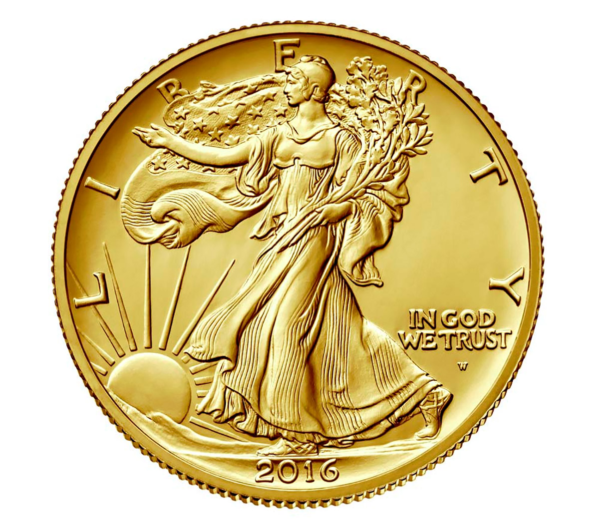 2016-W 1/2 oz. Gold Walking Liberty Half Dollar Centennial GEM Specimen (OGP)