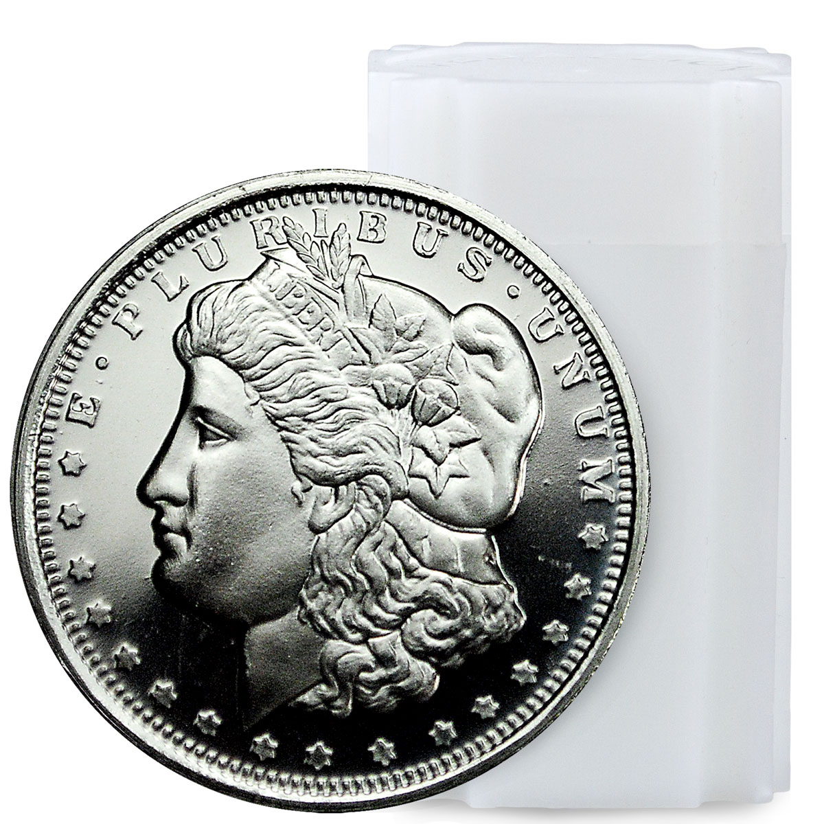 Roll of 20 - Highland Mint Morgan Dollar Design 1/2 oz Silver Round