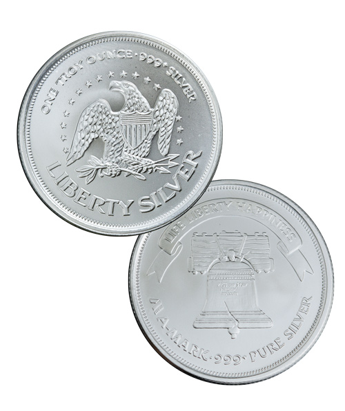 American Eagle - Liberty Bell A-Mark 1 Troy oz. .999 Fine Silver Round