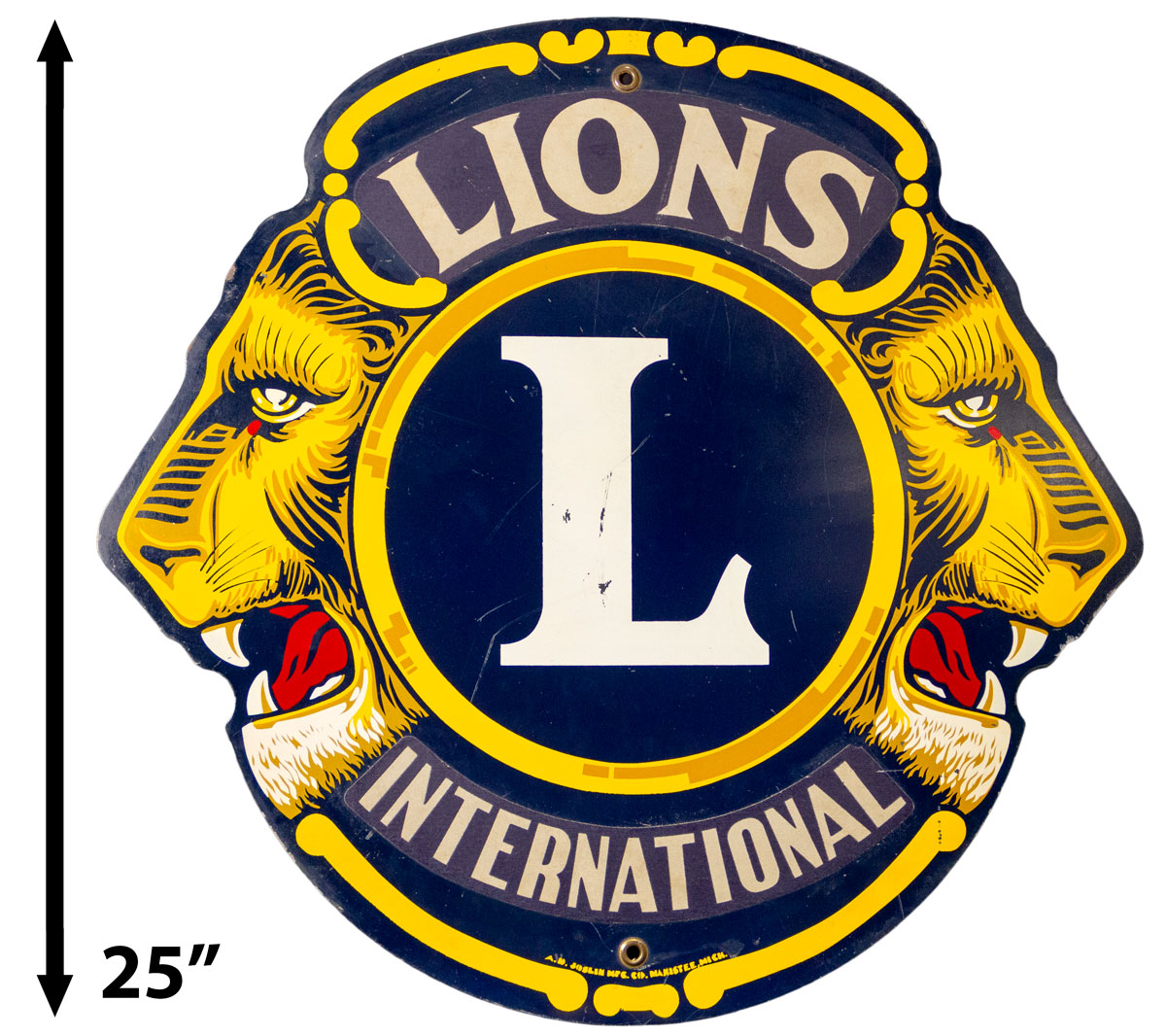 Lions Club Reflective Metal Sign