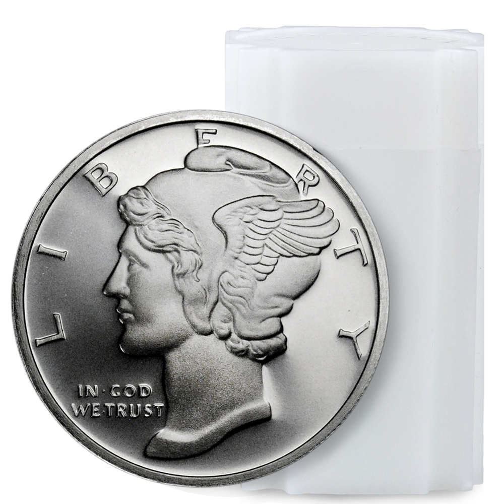Mercury Design 1 oz. Silver Round - Roll of 20 Rounds