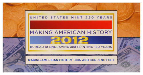 2012-S Proof American Silver Eagle Making American History Coin & Currency Set