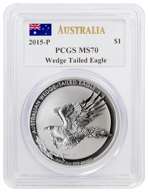 2015 P Australia 1 Oz Silver Wedge Tailed Eagle 1 Pcgs