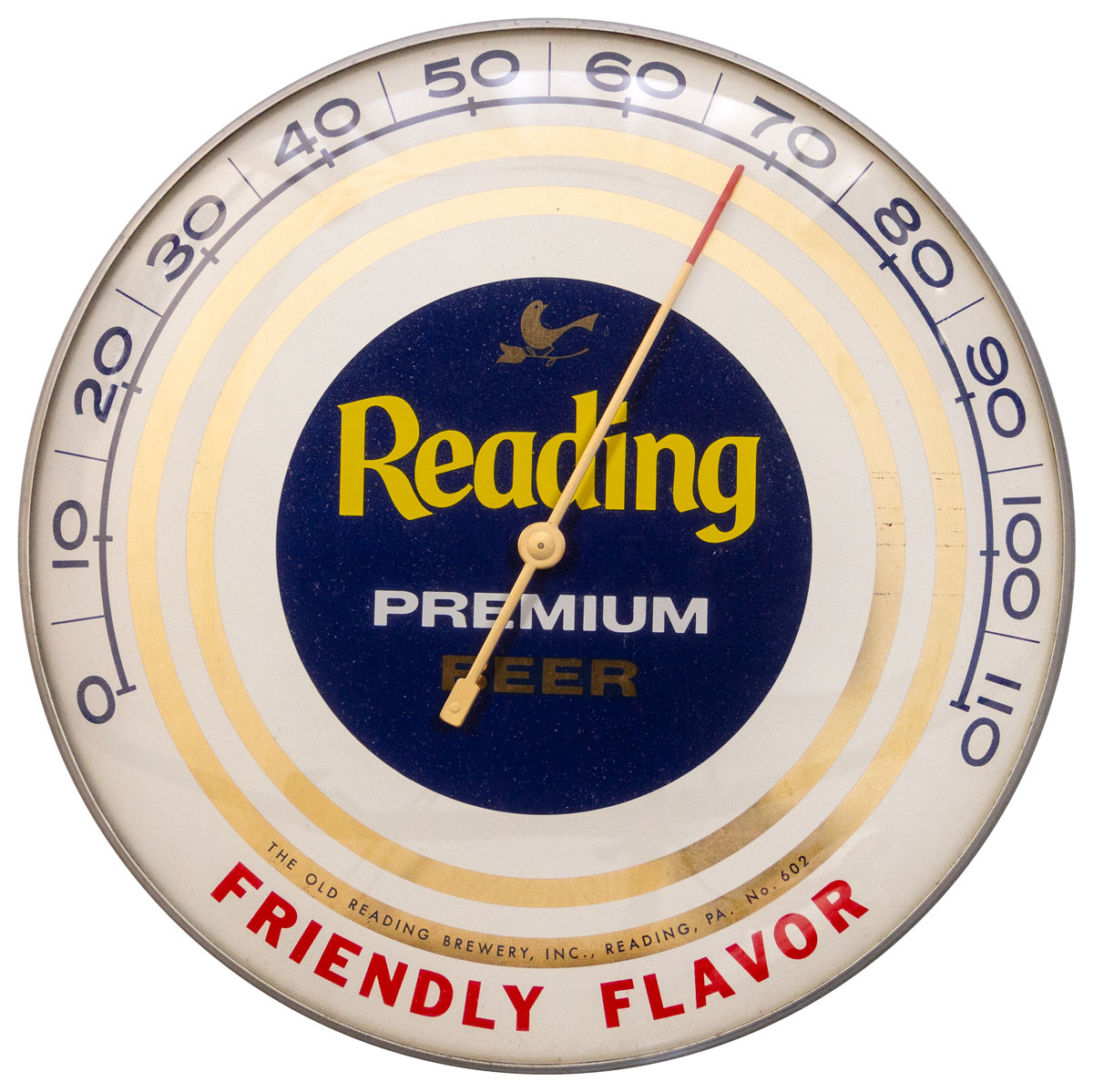 Reading Premium Beer Bubble Thermometer Excellent