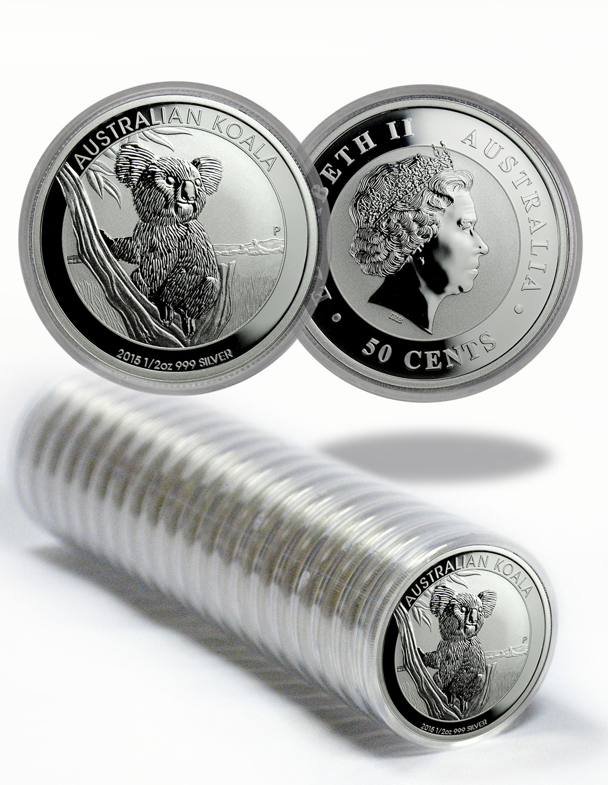 2015 Australia $1 1 oz. Silver Koala - Roll of 20 Coins - GEM BU (Original Mint Capsule)