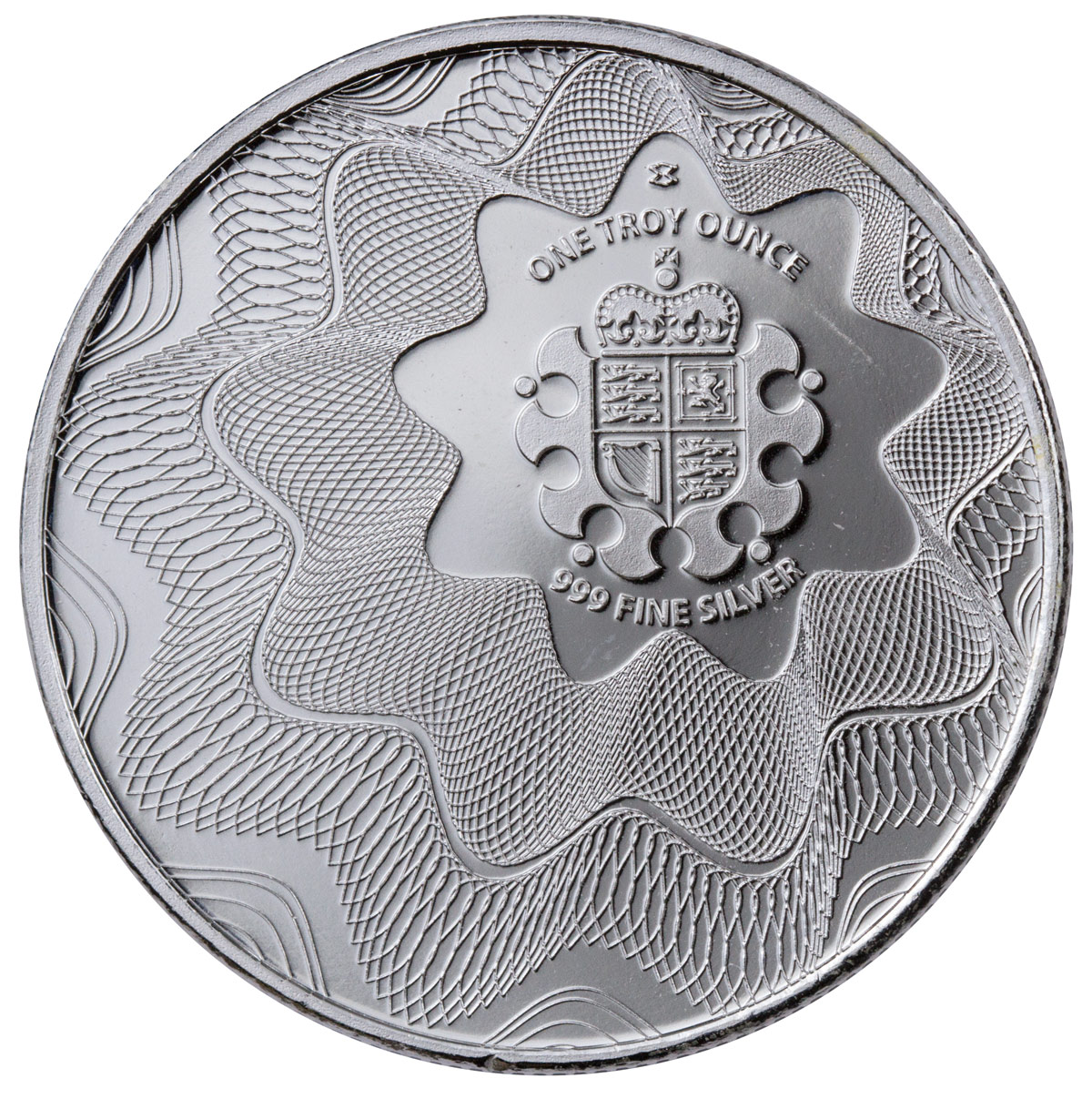 Royal Mint Offset Shield 1 Oz Silver Round Moderncoinmart