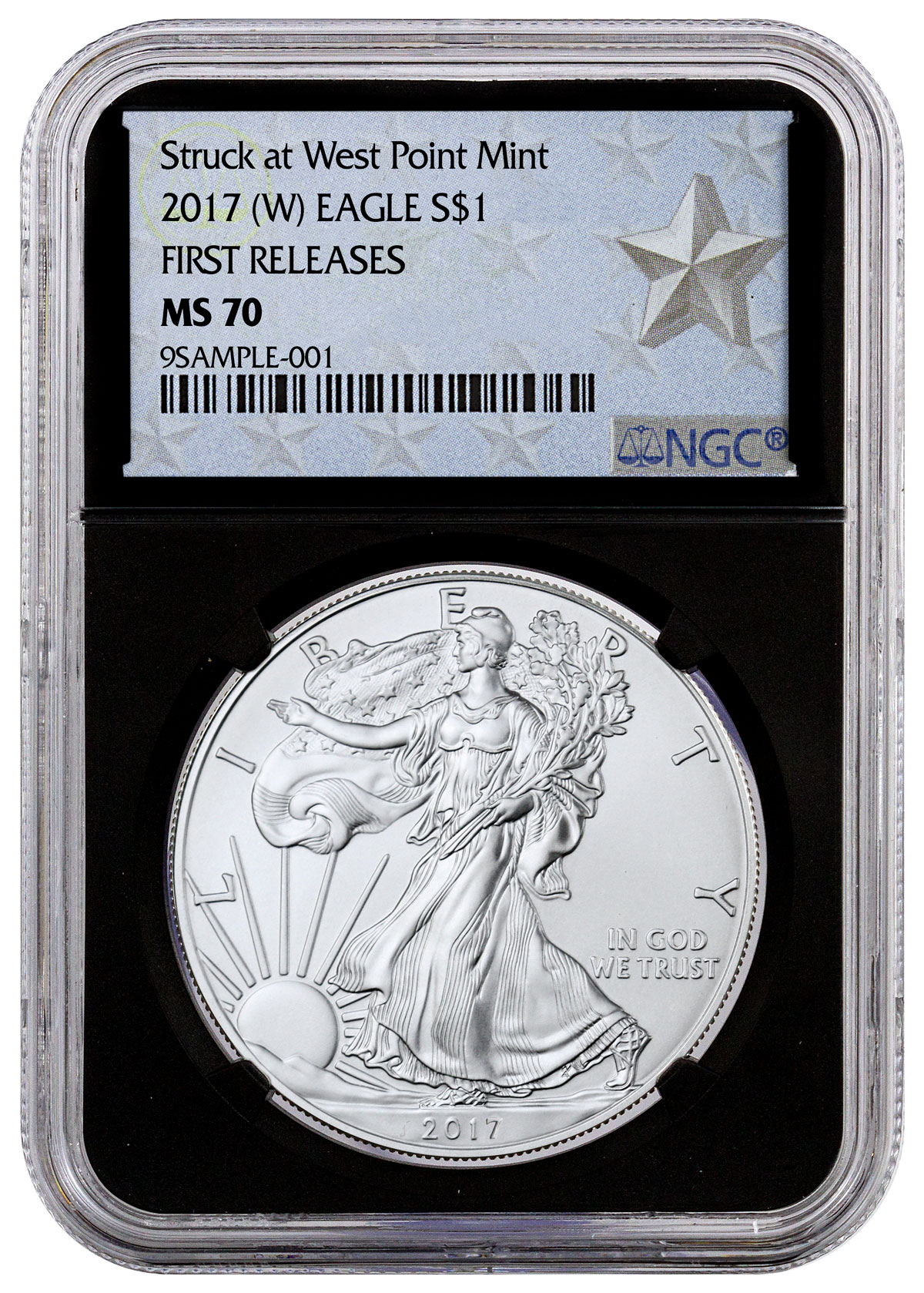 2017 W Silver Eagle Struck At West Point Ngc Ms70 Fr