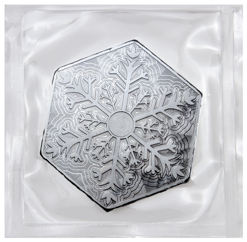 10 Oz Silver Hexagon Snowflake