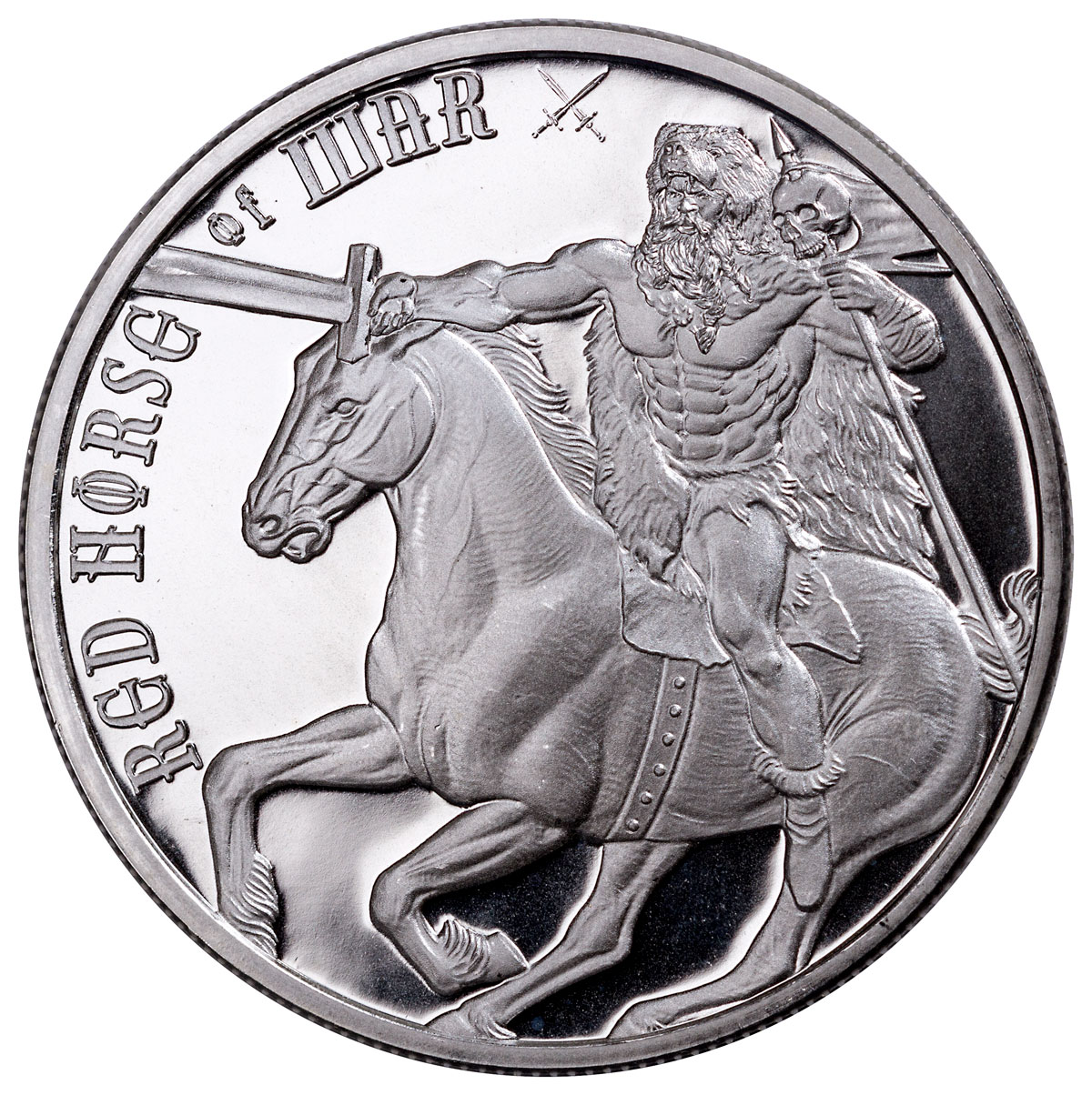 Golden State Mint Four Horsemen of the Apocalypse - Red Horse of War 1 oz Silver Round