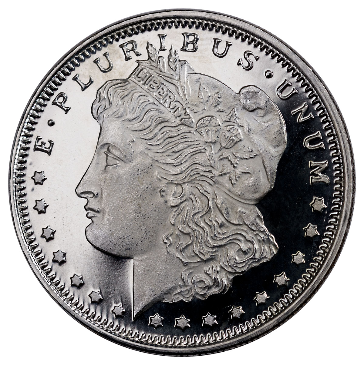 Highland Mint Morgan Dollar Design 1 2 Oz Silver Round