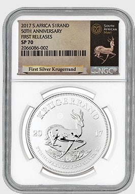 Silver Krugerrand with MCM's exclusive label