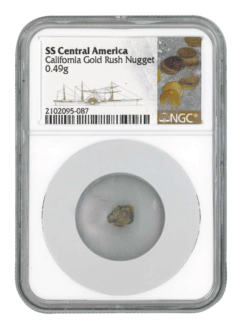 SSCA California Gold Rush Nugget .41 TO .50 Gram NGC Authentic