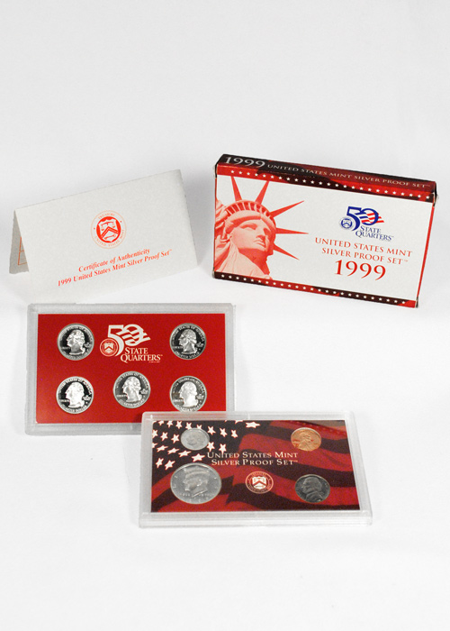 1999-S U.S. Silver Proof Coin Set GEM Proof OGP
