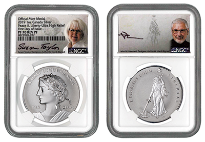 2019 One Ounce Silver Peace & Liberty Proof