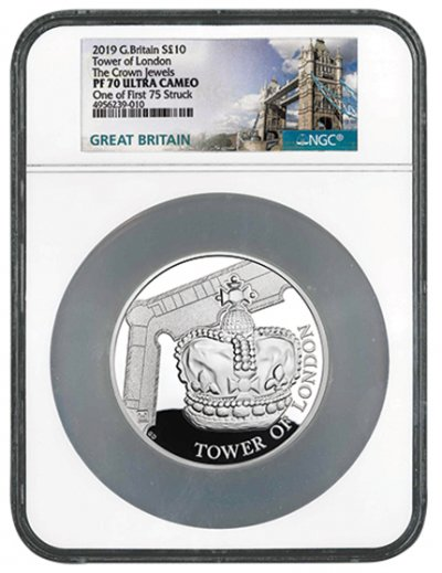 2019 £10 Silver Tower of London Crown Jewels Proof