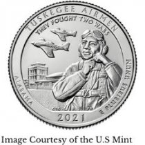 2021 America the Beautiful Tuskegee Airmen National Historic Site 5 oz. Silver Coins
