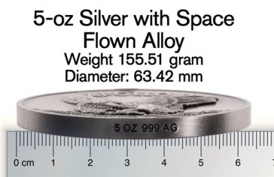 Silver Space-Flown Alloy Proofs