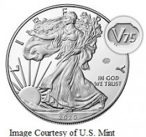 2020-W End of World War II American Silver Eagle Proof with V75 Privy