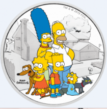 2019 2 oz. Simpsons Family Silver Proof Coin