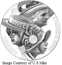 United States Mint 2020 Women's Suffrage Centennial Silver Dollar and Silver Medal