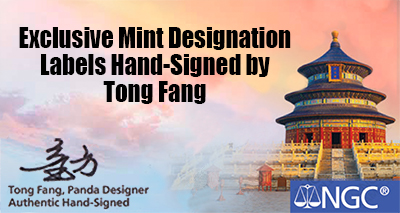 Exclusive Mint Designation Labels Hand-Signed by Tong Fang