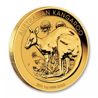 2021 Australia Gold Kangaroo Brilliant Uncirculated Coins