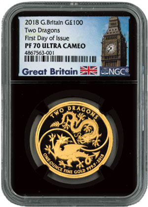 One-Ounce Gold Mythical Dragons Proof