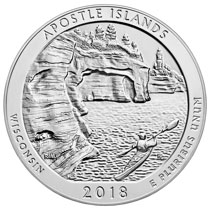 2018 5 oz. Silver ATB Apostle Islands coins