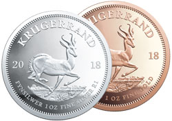 2018 Gold and Silver Krugerrand Coins