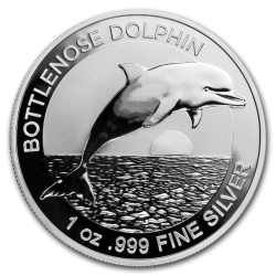 2019 Australia $1 1 oz. Silver Dolphin Brilliant Uncirculated