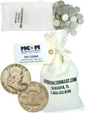 $100 Face Value Bag (200 Coins) 1948-1963 Junk Silver Franklin Half Dollar Avg Circ
