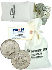 $100 Face Value Bag (200 Coins) 1964 Kennedy Junk Silver Half Dollars Avg Circ