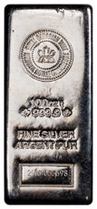 Random Date Royal Canadian Mint Logo 100 oz Silver Bar