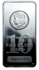 Highland Mint Morgan Dollar Design 10 oz Silver Bar