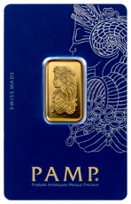 PAMP Fortuna 10 g Gold Bar In Assay