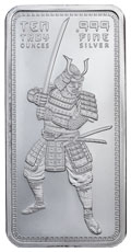 10 oz Samurai Silver Bar BU
