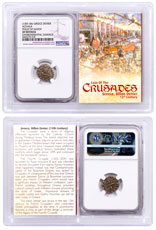 1250-1310 Greece, Billon Denier - Coin of the Crusades NGC XF Story Vault