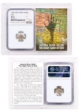 1300-1400 Austria Hall Silver Hand Heller NGC MS63 Story Vault