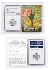 1300-1400 Austria Hall Silver Hand Heller NGC MS64 Story Vault