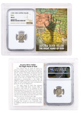 1300-1400 Austria Hall Silver Hand Heller NGC MS61 Story Vault